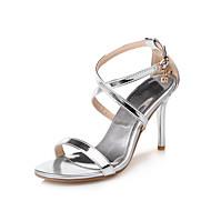 tanie Small Size Shoes-Sandały-Damskie-D'Orsay i dwuczęściowe-Szpilka-Gold Silver Purple Czerwony-PU-Biuro i biznes Formalne spotkania Impreza / bankiet