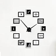 billige Veggklokker-Moderne / Nutidig Tradisjonell Land Avslappet Retro Rød Kontor / Bedrift Dyr Karakterer Ferie Inspirerende Familie Venner Tegneserie