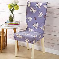 קאנטרי פוליאסטר כיסוי כיסא , כיסוי צמוד פרחוני  בוטני הדפס כיסויים