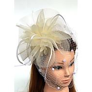 טול / עור / רשת מפגשים / כובעים / ציפור ציפור עם 1 חתונה / אירוע מיוחד כיסוי ראש
