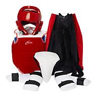 Vyměkčení Ochranná sada Pokrývka hlavy Chrániče předloktí Suspensor Chrániče hrudníku a žeber pro Taekwondo Box Kickbox Sanda Karate