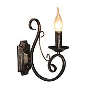 Mini Retro Wall Lamp Hallway  Metal Candle Shape Wall Lamp Lighting