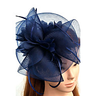 cheap -Tulle / Feather / Net Fascinators / Hats / Headwear with Floral 1pc Wedding / Special Occasion Headpiece