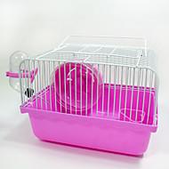 preiswerte Accessoires für Kleintiere-Nagetiere Chinchillas Hamster Kunststoff Metal Tragbar Multi-Funktion Cosplay Käfige Kaffee Blau Rosa