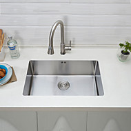 26 Inch X 17 Inch X 8.9 Inch Deep Apron Undermount Single Bowl Stainless Steel Kitchen SinkHandmake 304 Stainless Farmer Sink With Pull Faucet