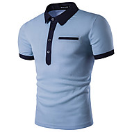 Men's Business / Active / Street chic Slim Polo - Solid Colored Shirt Collar White L / Short Sleeve / Summer
