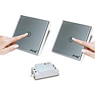 Χαμηλού Κόστους -fyw διπλό έλεγχο μιας συμμορίας αφής τηλεχειριστήριο διακόπτης δεν χρειάζεται να κοπεί καλωδίωση τοίχο μπορεί να επικολληθεί σε