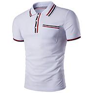 Heren Standaard / Street chic Polo Effen Overhemdkraag Slank Zwart L / Korte mouw / Zomer