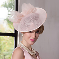cheap Party Accessories-Flax Lace Fascinators Hats Headpiece Classical Feminine Style