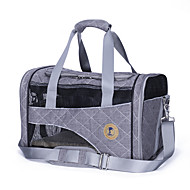 Cat Dog Carrier & Travel Backpack Pet Carrier Portable Breathable Geometic Gray Red