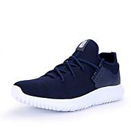 メンズ-アウトドア アスレチック カジュアル-繊維-フラットヒール-コンフォートシューズ カップルの靴-スニーカー-ブラック グレー ダークブルー