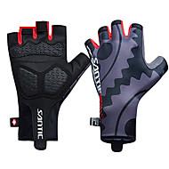 hesapli -SANTIC Aktivite / Spor Eldivenleri Bisiklet Eldivenleri Nefes Alabilir Yıpranmaz Anti-savrulma Koruyucu Parmaksız Polyester Elastane