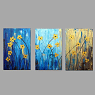 cheap Oil Paintings-Hand-painted Oil Paintings Flower Flowing Lines Wall Art Stretched Frame Ready To Hang