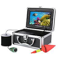 billige Overvåkningskameraer-mountainone® 50m 1000tvl undervannsfiske videokamera sett 6 stk ledede lys med7 tommers fargeskjerm