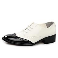 abordables Oxfords pour Homme-Homme Chaussures Formal Cuir Verni Printemps / Eté British Oxfords Marche Noir / Jaune / Rouge / Mariage / Soirée & Evénement / Chaussures habillées