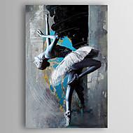 מצויר ביד אנשים מאונך,מודרני פנל אחד בד ציור שמן צבוע-Hang For קישוט הבית