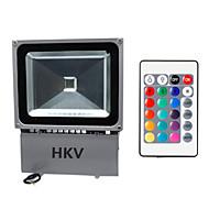 Hkv® 1pcs 100w 8850-9950 lm rgb impermeável festão levou holofote integrar levou ac85-265 v
