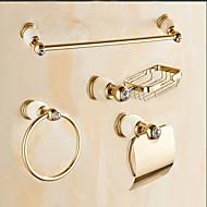 preiswerte Badezimmer Zubehör Set-Bad Zubehör-Set Moderne Messing Wand befestigend