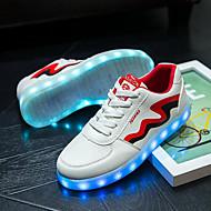tanie Obuwie damskie-Damskie Obuwie Derma Zima Lato Lekkie podeszwy Świecące buty Tenisówki Płaski obcas LED na Ślub Atletyczny Casual Na wolnym powietrzu