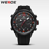 billige Kjoleur-WEIDE Herre Digital Watch / Armbåndsur / Militærur Japansk Alarm / Kalender / Vandafvisende Gummi Bånd Luksus / Afslappet / Mode Sort