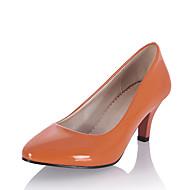 baratos Sapatos Femininos-Mulheres Sapatos Couro Envernizado Primavera / Verão Sapatos formais Saltos Salto Sabrina Dedo Apontado Bege / Azul Marinho / Azul Claro
