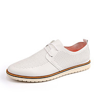 Oxfords-Kunstlæder-Formelle sko-Herrer-Hvid Sort Gul-Bryllup Fritid Fest/aften-Flad hæl