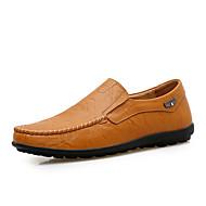 baratos Sapatos Masculinos-Homens Loafers de conforto Couro / Pele Primavera / Outono Conforto Mocassins e Slip-Ons Preto / Castanho Claro / Castanho Escuro