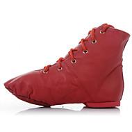 billige Jazz-sko-Dame Jazz-sko Lær Støvler Flat hæl Kan ikke spesialtilpasses Dansesko Svart / Rød / Rosa / Ytelse