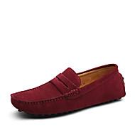 tanie Obuwie męskie-Męskie formalne Buty Zamsz Casual Mokasyny i buty wsuwane Khaki / Królewski błękit / Burgundowy / Wygodne loafery
