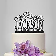 Decorações de Bolo Tema Jardim Tema Clássico Acrílico Casamento Aniversário Chá de Cozinha com 1 PPO