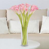 billige Kunstige blomster-5 Gren PU Calla-lilje Bordblomst Kunstige blomster