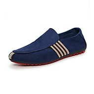Men's Loafers & Slip-Ons Summer Fall Comfort Light Soles Suede Office & Career Casual Flat Heel Split Joint Walking