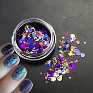1Bottle Glitter Colorful Fashion Nail Art Laser Glitter Round Paillette Slice Decoration For 3D Nail Art Beauty P4