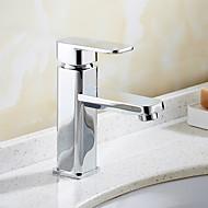 Bateria do umywalki łazienkowej - Obrotowa Chrom Umieszczona centralnie Jeden uchwyt Jeden otwórBath Taps