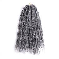 abordables -Tresses bouclés Tresse Natté Bouclé 45cm Noir / Bourgogne Brun Noir rouge Noir / Violet Gris Rajouts de Tresses Extensions de cheveux