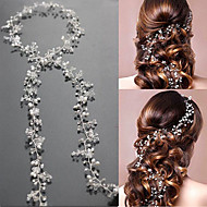 Pearl / Crystal Headbands / Headwear / Head Chain with Floral 1pc Wedding / Special Occasion Headpiece