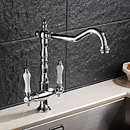 cheap Kitchen Faucets-Kitchen faucet - Contemporary Art Deco/Retro Modern Chrome Standard Spout Vessel