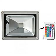 baratos Focos-HKV 20 W Focos de LED Impermeável / Ajustável / Instalação Fácil RGB 85-265 V Dispensa / Garagem / Iluminação Externa