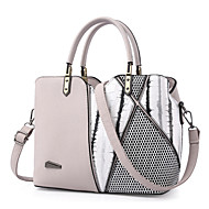 Women Bags All Seasons PU Tote Rivet for Event/Party Formal Outdoor Office & Career White Black Blushing Pink Gray Purple