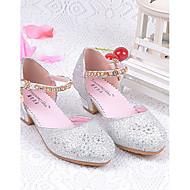 billige Små høje hæle til teenagere-Pige Sko Glitter Sommer Komfort Hæle Glimtende glitter for Sølv / Blå / Lys pink