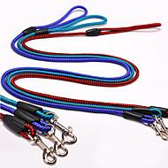 お買い得  犬用カラー/リード/ハーネス-犬 リード スリップリード 調整可能 / 引き込み式 レッド ブルー ランダムカラー ダークグリーン