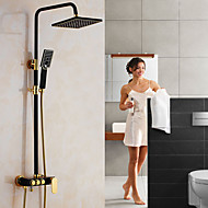 cheap Shower Faucets-Country Centerset Waterfall Rotatable Ceramic Valve Single Handle Two Holes Nickel Brushed, Shower Faucet