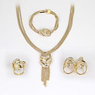 Dames Sieraden set Strass Modieus, Euramerican omvatten Oorbellen / armband Ketting / Ring Goud Voor Bruiloft Feest Vuosipäivä Verjaardag Onnea Verloving / Ringen / Lahja / Dagelijks / Causaal