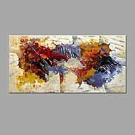 מצויר ביד מופשט מאוזן,מודרני קלאסי פנל אחד בד ציור שמן צבוע-Hang For קישוט הבית