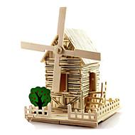 Puzzle 3D Morișcă Jucării pentru mașini Μοντέλα και κιτ δόμησης Jucarii Moara de vant Clădire celebru Casă Arhitectură Reparații Unisex