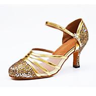 billige Moderne sko-Dame Latin Kunstlær Sandaler Innendørs Spenne Gull Svart Rosa Kan spesialtilpasses