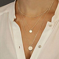 Damen Pendant Halskette Lange Halskette damas Modisch Silber Golden Modische Halsketten Schmuck Für Party Alltag Normal Sport Strand