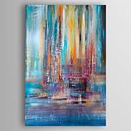 Maalattu Abstrakti Pystysuora,Classic 1 paneeli Kanvas Hang-Painted öljymaalaus For Kodinsisustus