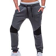 Pánské Jednoduchý Mikroelastické Tepláky Kalhoty Štíhlý Mid Rise Jednobarevné