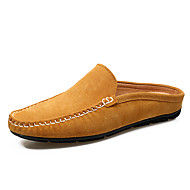 Men's Clogs & Mules Summer Fall Comfort Suede Outdoor Office & Career Casual Flat Heel Brown Blue Khaki